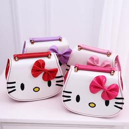 a83bda1931 Fashion Kids Handbag Cartoon Hello Kitty Pattern Printing Lovely Kids  Shoulder Bag Girls Bowknot Cross-body bags Good Gifts For Daughter