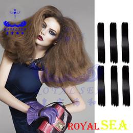 Bundle Kinky Straight Human Hair Australia - Kinky Straight Brazilian Hair Weave Bundles Coarse Yaki 100% Human Hair Bundles Royal Sea Hair Products Remy Extensions