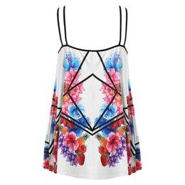 9111c488883 Plus Size Tank Women Summer 5XL Fruit Floral Print Camisole Spaghetti Strap  Sleeveless CamiLadies Tops Big Size Female Clothes