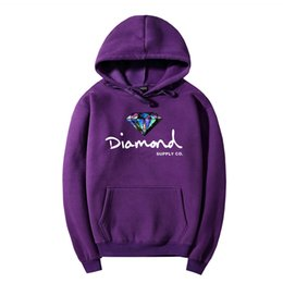 Wholesale Men Women Trend Diamond Hoodie Style Hoodies Colors S XL Autumn Winter New Arrivals Brand Sweatshirt with Letter Printing Streetwear