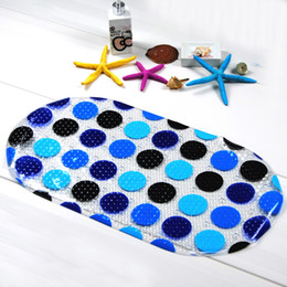 Shower mat online shopping - PVC Water Isolation Mats Shower Room Non Slip Pebble Pad With Belt Sucker Bathroom Decor Accessories mh Ww