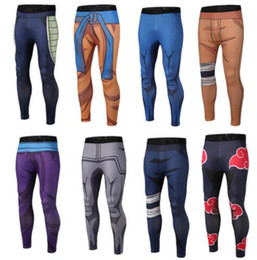 Ball leggings online shopping - 9 design student men Sport Pants Jogger D Printing Naruto Dragon Ball Mens Yoga Pants Skinny Leggings Trousers Fashion Tights KKA4795