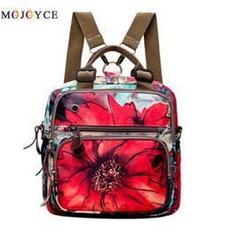$enCountryForm.capitalKeyWord Canada - Chinese Style Women Retro Flowers Print Shoulder Bag Muti-Pocket Zipper Travel Backpack Large Capacity Mom's Storage Rucksack Y18110202