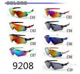 $enCountryForm.capitalKeyWord NZ - BRAND New Bicycle Glass MEN sunglasses sports to peak cycling sunglasses Sports spectacl fashion dazzle colour mirrors free shipping 9208