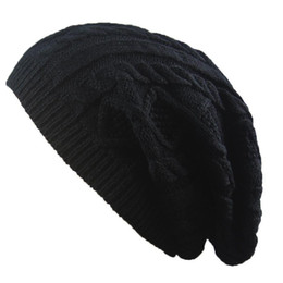 ac787eeb0f8 Oversized Men Ladies Knitted Woolly Winter New Slouch Beanie Hat Cap  Skateboard