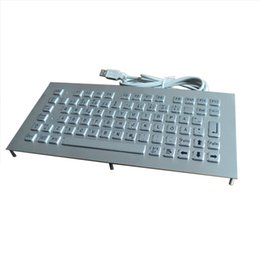 StainleSS panel online shopping - stainless steel IP65 front panel mount with stud bolts compact metal keyboard with metal key buttons and F1 F12 function keys