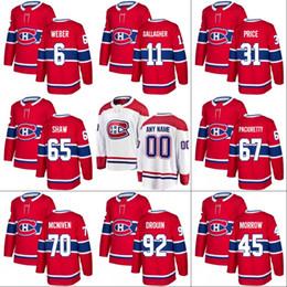 1562bed0b Montreal Canadiens Jersey 92 Jonathan Drouin 11 Brendan Gallagher 31 Carey  Price 65 Andrew Shaw 76 P.K. Subban Hockey Jerseys