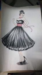 $enCountryForm.capitalKeyWord Australia - new design 1950's Vintage sweetheart Neckline Tea-length Puffy Ball Gown Chiffon Short Prom Dresses black Evening Gowns with pink sash