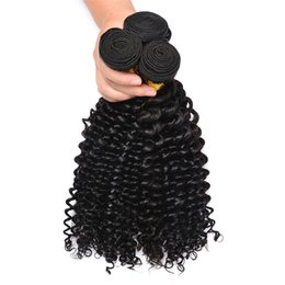 $enCountryForm.capitalKeyWord UK - Virgin Indian Remy Hair Deep Wave 3 Bundles Curly Hair Weave 3 Pcs Remy Extensions 300G Unprocessed Human Hair Weave Weft No Braiding Natura