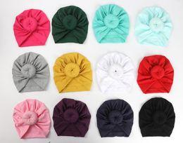 96b694e76 Nishine 8 Colores Bebé Recién Nacido Niño Niños Rosa Bowknot Mezcla de  Algodón Suave Sombrero Gorras Ropa Accesorios Regalo de Navidad