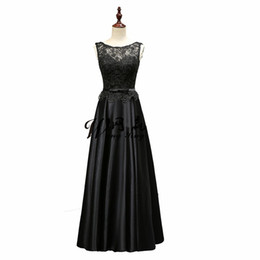 $enCountryForm.capitalKeyWord UK - Long Black Evening Dress Floor Length Peplum Lace Satin Prom Dress Cheap Formal Evening Gown robe de soiree abendkleider