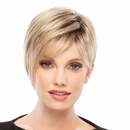 straight bangs wig UK - 12 inches Women Fashion Bob Style Wig Women's Short Straight Full Hair Wigs Cosplay Party Neat Bangs