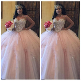 quinceanera dresses red bling Australia - Bling Bling Sweetheart Ball Gown Quinceanera Dresses Pink Tulle Ruffle Lace Up Back Custom Vestidos De Quinceanera Prom Gowns 2018