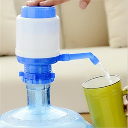 Water pump electric online shopping - High Quality Manual Hand Press Drinking Water Bottle Creative Dispenser Pump Eco Friendly Portable Home Office Tools ra jj
