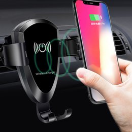 $enCountryForm.capitalKeyWord Australia - Hot Model Cell Phone Qi Wireless Charger For Car Universal Gravity Car Air Vent Mount Holder for iPhone 8 X Samsung S7 S8 S9 Phone Charger