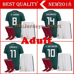 $enCountryForm.capitalKeyWord Canada - adult kit Mexico Soccer jersey 2018 World Cup Mexico jerseys home kits customize CHICHARITO G.DOS SANTOS H.LOZANO sets Football shirts Sock