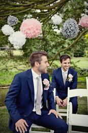 $enCountryForm.capitalKeyWord Canada - Royal Blue Slim Fit 2019 Modest Groom Tuxedos Wedding Tuxedos Suits Custom Made Groomsmen Best Man Prom Suits Black Pants (Jacket+Pants+Tie)