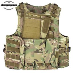 tactical outdoor equipment UK - Tactical Vest CS Outdoor Equipment Plate carrier Multicam Army Molle Mag Ammo Chest Paintball Vest