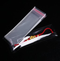 $enCountryForm.capitalKeyWord NZ - 500pcs 12 x 35cm Self Adhesive Seal Clear Cello Bags Transparent Plastic Envelope Bag Gift Packaging Bag