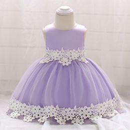 $enCountryForm.capitalKeyWord Australia - New Baby Princess Flower Girl Dress Lace Appliques Wedding Prom Ball Gowns Birthday Communion Toddler Kids TuTu Dress 2018