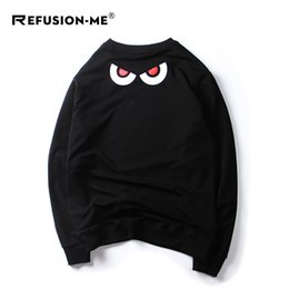 Teeth Coating NZ - Spring thin leisure pullover long sleeve coat tide shark teeth printed sweater student loose large size coat male