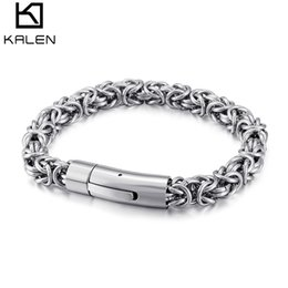 $enCountryForm.capitalKeyWord NZ - 210*7.5mm Jump Ring Bracelets For Men Silver Grey Stainless Steel Wholesale Jewelry For Boy Male 2018