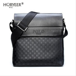 Polo leather shoulder bag online shopping - HORYEER sacoche homme special offer leather messenger bag fashion men business crossbody bag brand POLO Shoulder briefcase B