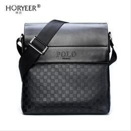 HORYEER sacoche homme oferta especial de couro messenger bag moda dos homens de negócios crossbody bag marca POLO bolsa de Ombro B em Promoção