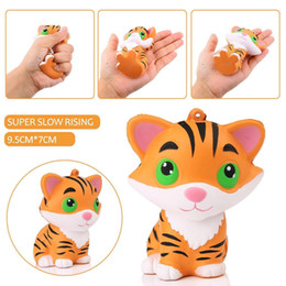 Discount tiger soft toy - Baby Toys New Arrival Kawaii Squishy Tiger Squeeze Soft Slow Rising Healing Fun Toys Pendant Phone Straps Decor Child Xm