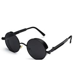 1372d5d7ea3 Vintage Steampunk Round Sunglasses for Women Girls Eyewear UV 400 Sun  Glasses Popular Stylish Design Eye Glasses