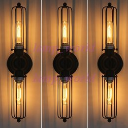diy industrial lighting. RH Loft DIY Rustic Edison Wall Lamp Vintage Industrial Sconce Steampunk Lighting Dimmable Double Elongated Mirror Diy