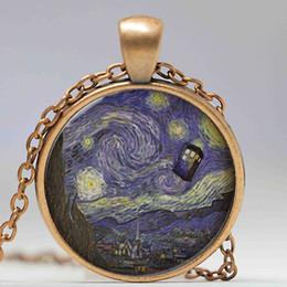 $enCountryForm.capitalKeyWord Australia - Wholesale New Fashion Glass Dome Doctor Who Necklace. Tardis Van Gogh Dr who art pendant jewelry