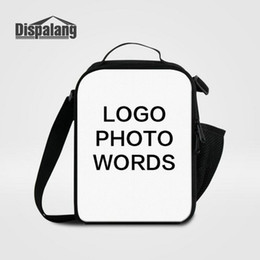 Women's Food Bag Small Lunch Bags Print Your Own Logo Photo Lunchbox For School Children Customize Design Cooler Bags For Students Lancheira on Sale
