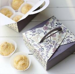Diy Hot Pack Australia - Hot selling fun creative retro Flower Family diy fun Portable Packing box.Cake box.Package paper.retail great deal