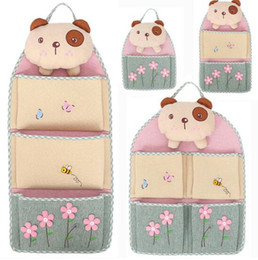 Discount wall beds more - Free Shipping 3D Bran Bear Multilayer Cloth Storage Hanging Bag Door Hanging Bag Sundries Organizer More Save Space And