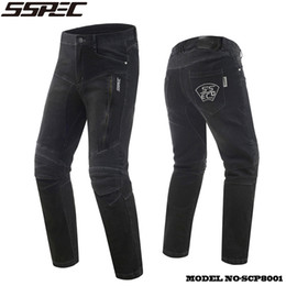 $enCountryForm.capitalKeyWord Canada - SSPEC Motorcycle Jeans moto Autocycle Protection Pants Motocross Hip protector moto Trousers Racing Knee pads Motorcycle Jean