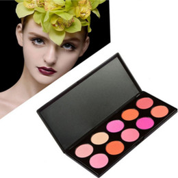color makeup cosmetic blush blusher palette NZ - High Pigment 10 color Cosmetic Cheek Blusher Makeup Blush Palette Face Blush blusher powder contour palette Facial Blush Beauty tool