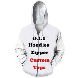 $enCountryForm.capitalKeyWord NZ - Diy Custom Design Mens Womens Clothing 3D Print Zipper Sweatshirt Hoodies Drop Shipping Wholesalers Suppliers For Drop Shipper