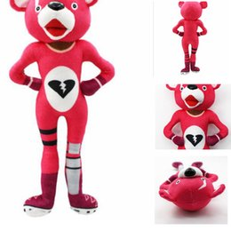 China 30cm Game Fortnite Plush Toy Fortnite Pink Bear Stuffed Toy Kids Christmas Gift Pink Bear Stuffed doll KKA5895 cheap big bear stuff toys suppliers