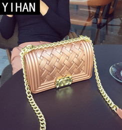 $enCountryForm.capitalKeyWord NZ - Factory independent brand women bags new summer knitted matte jelly bag candy color PVC fashion chain bag elegant rhombus women shoulder bag