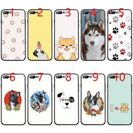 $enCountryForm.capitalKeyWord Australia - Cute Cartoon Animal Cat Dog Bulldog Soft Black TPU Phone Case for iPhone XS Max XR 6 6s 7 8 Plus 5 5s SE Cover