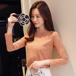 Big Lapel Shirt Loose Slim Lamp Korean Sweet Lace Hollowed Lace
