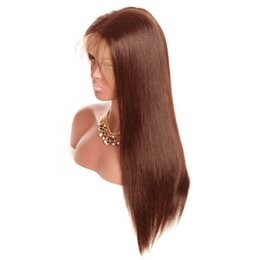 Light Brown Closure Australia - 130%150%180%Density 360 Lace Frontal Closure #2#4 light dark browm color Straight Brazilian Baby Hair Pre Plucked Natural Hairline 10-22