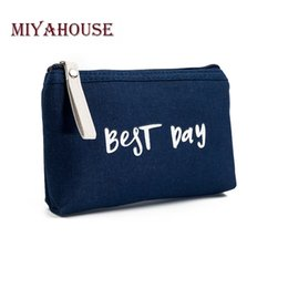 $enCountryForm.capitalKeyWord Canada - Miyahouse Letter Print Make Up Bag Female Canvas Cosmetic Bags Women Zipper Cosmetics Bag Portable Travel Make Up Pouch