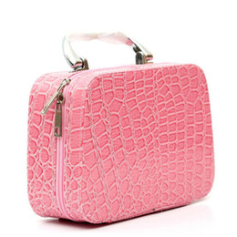 Chinese  2018 New Style Cosmetic Bags Box Makeup Bag Girl Cosmetic Cases Beauty Alligator Travel Purse Jewelry Display Case Fashion Trend manufacturers
