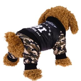 $enCountryForm.capitalKeyWord NZ - Pet Dog Clothes Costume Fashion Bright Camouflage Dog Clothes Winter Warm Waterproof Fbi Printing Coat Jacket Dog Clothing