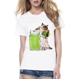 $enCountryForm.capitalKeyWord Canada - Women's Tee Women's Animal T Shirt Printing Expert Cute Design Tops Love To Drink Vegetable Juice Cat   Frog Cat Funny Women T Shirt