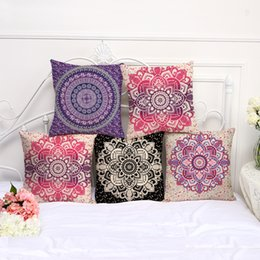 aaa5787bec5 cushion cover flower designs 2019 - Retro Floral Designs Pillow case  Bohemian bed flower Pillowcover Cotton