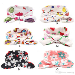 9a787d8cca5 Baby Girls Hair Accessories Lovely Bunny Ear Headbands Bows For Newborn  Floral Knot Head Wrap Kids Elastic Hairband Twisted Turban KHA484