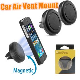 Wholesale Magnetic Air Vent Mount Mobile Smartphone Stand Magnet Support Cell Cellphone Telephone Desk Tablet GPS Car Phone Holder With Retail Package